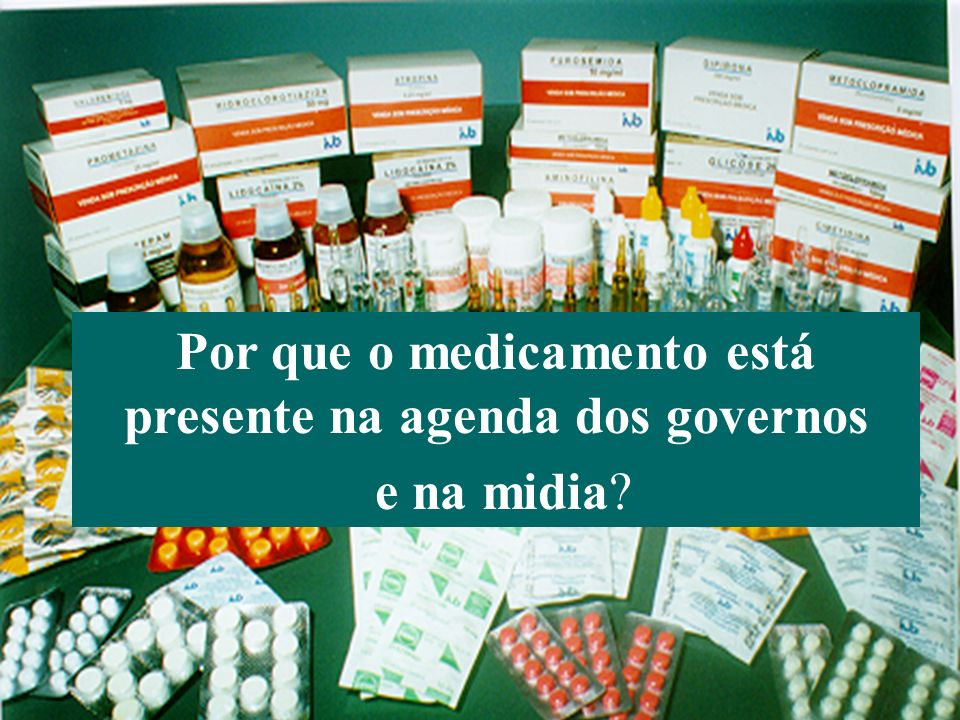 Bermudez (Agosto 2006) Organización Panamericana de la Salud 18 DPI e acesso a medicamentos: mandato conferido pela AMS (OMS) 1999: Resolution WHA 52.19 – The revised drug strategy 2001: Resolution WHA 54.11 – WHO medicines strategy 2002: Resolution WHA 55.14 – Ensuring accessibility of essential medicines 2003: Resolution WHA 56.27 – Intellectual property rights, innovation and public health 2004: Resolution WHA 57.14 – Scaling up treatment and care within a coordinated and comprehensive response to HIV/AIDS 2006: Resolution WHA 59.26 – International trade and health 2006: Resolution WHA 59.24 – Public health, innovation, essential health research and intellectual property rights: towards a global strategy and plan of action