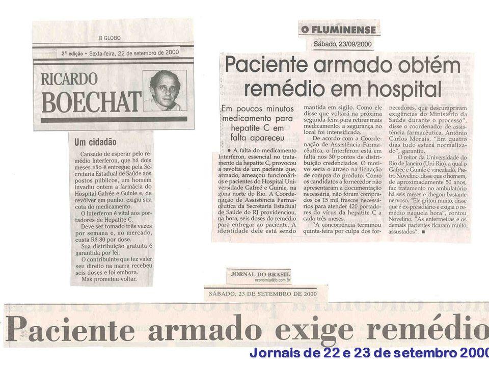 Bermudez (Agosto 2006) Organización Panamericana de la Salud 8 Jornais de 22 e 23 de setembro 2000