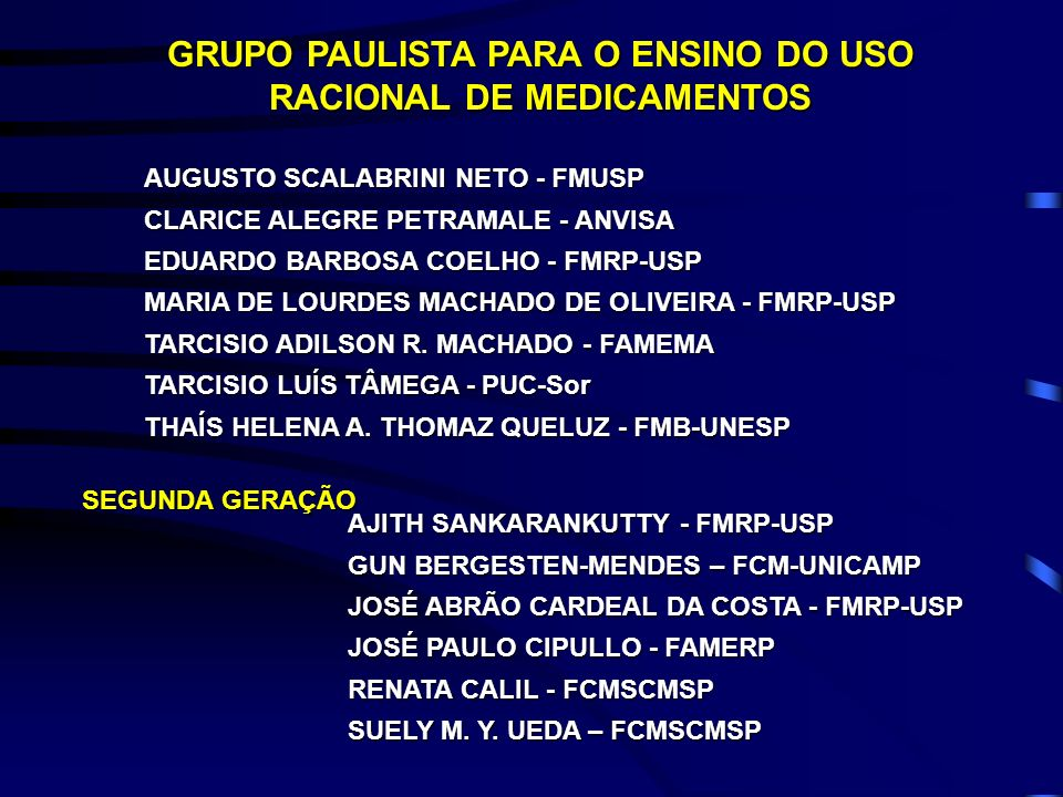 AJITH SANKARANKUTTY - FMRP-USP GUN BERGESTEN-MENDES – FCM-UNICAMP JOSÉ ABRÃO CARDEAL DA COSTA - FMRP-USP JOSÉ PAULO CIPULLO - FAMERP RENATA CALIL - FC