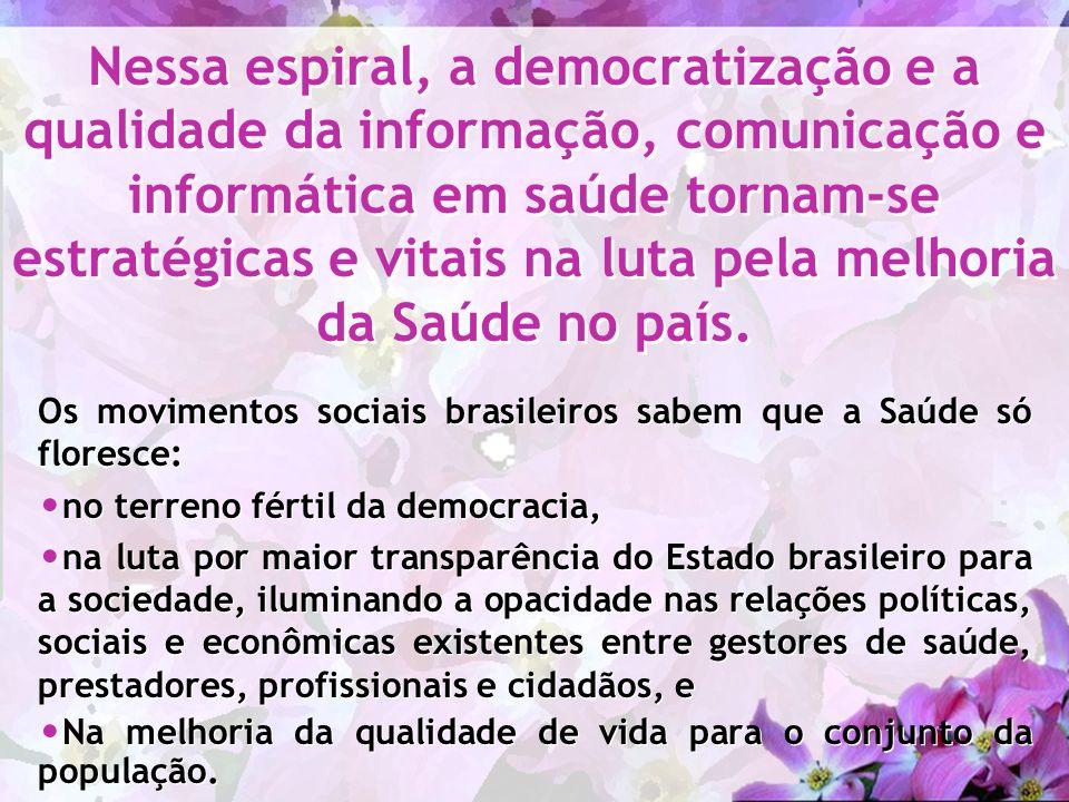 Os movimentos sociais brasileiros sabem que a Saúde só floresce: no terreno fértil da democracia, na luta por maior transparência do Estado brasileiro