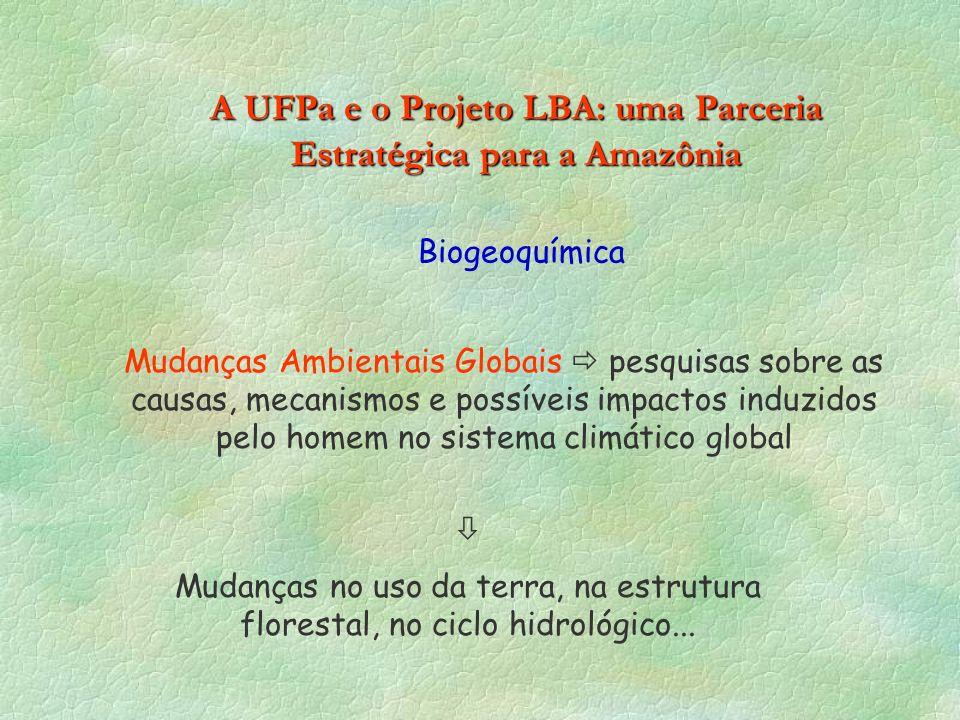 A UFPa e o Projeto LBA: uma Parceria Estratégica para a Amazônia Mudanças Ambientais Globais pesquisas sobre as causas, mecanismos e possíveis impacto