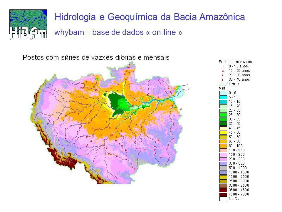 whybam – base de dados « on-line » Hidrologia e Geoquímica da Bacia Amazônica