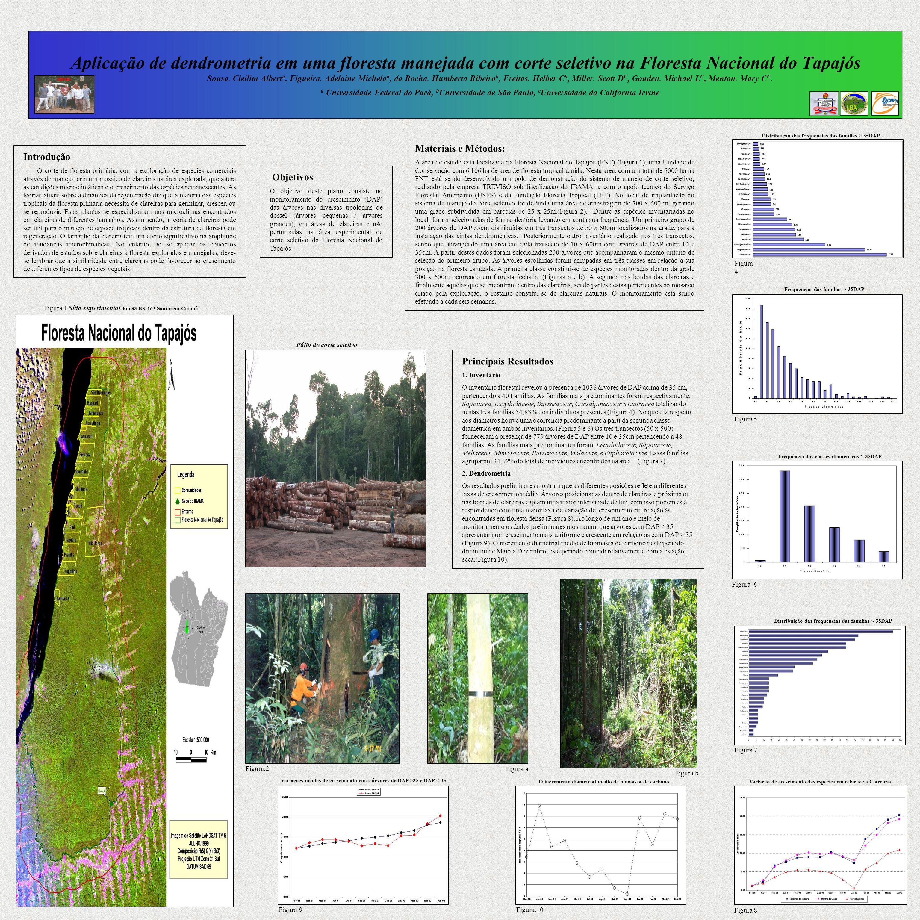 Aplicação de dendrometria em uma floresta manejada com corte seletivo na Floresta Nacional do Tapajós Sousa. Cleilim Albert a, Figueira. Adelaine Mich