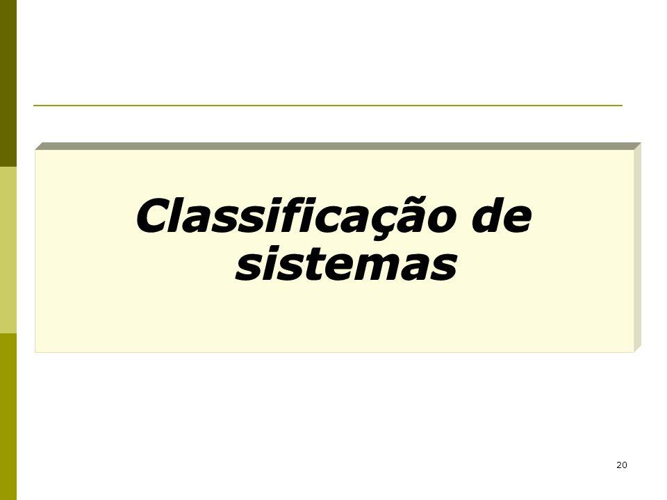 20 Classificação de sistemas