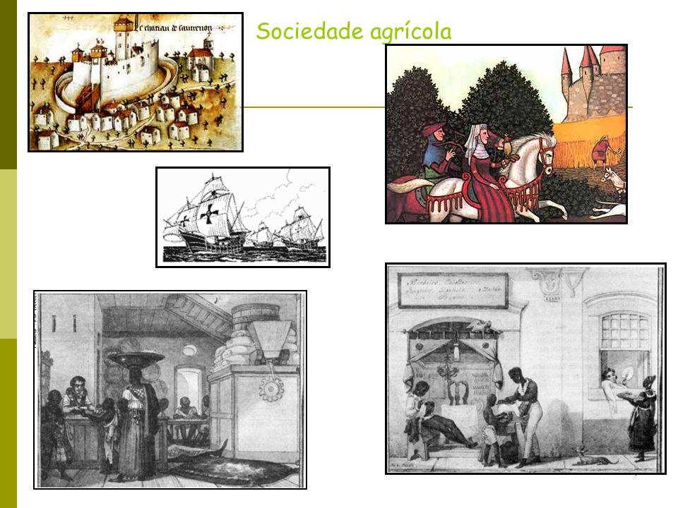5 Sociedade industrial Obra-prima do cinema mundial, Tempos Modernos satiriza a vida industrial: Carlitos, o adorável vagabundo, é um operário de uma fábrica super moderna.