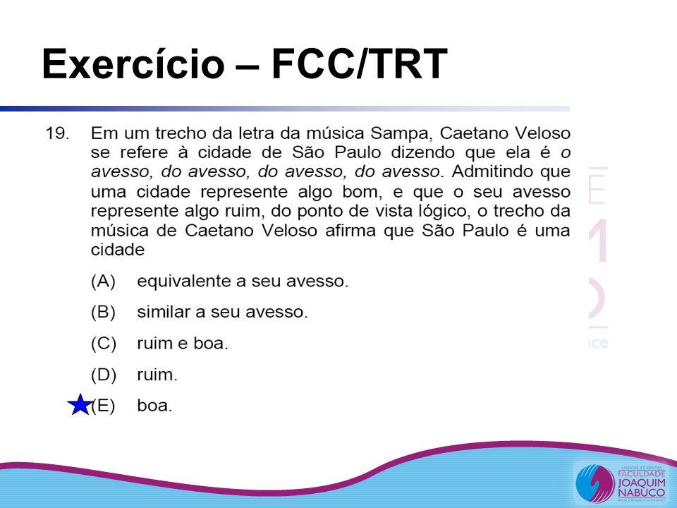 Exercício – FCC/TRT