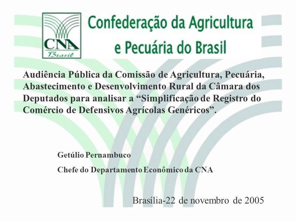 Propostas Genéricos: Proposta de Medida Provisória elaborada pela Comissão de Agricultura da Câmara dos Deputados MAPA – órgão único para o registro de genéricos com base na similaridade FAO; Estabelece prazo de 60 dias para o registro