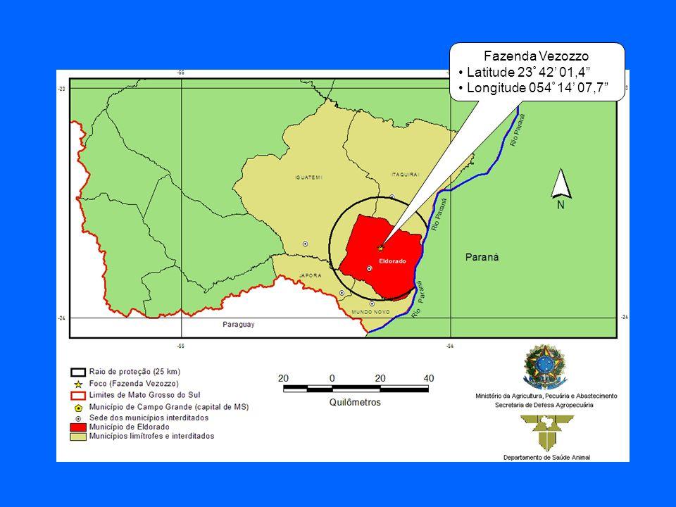Fazenda Vezozzo Latitude 23 º 42 01,4 Longitude 054 º 14 07,7