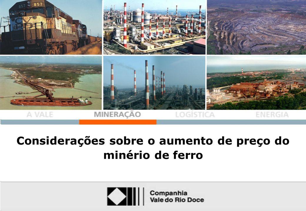 Mining Considerações sobre o aumento de preço do minério de ferro