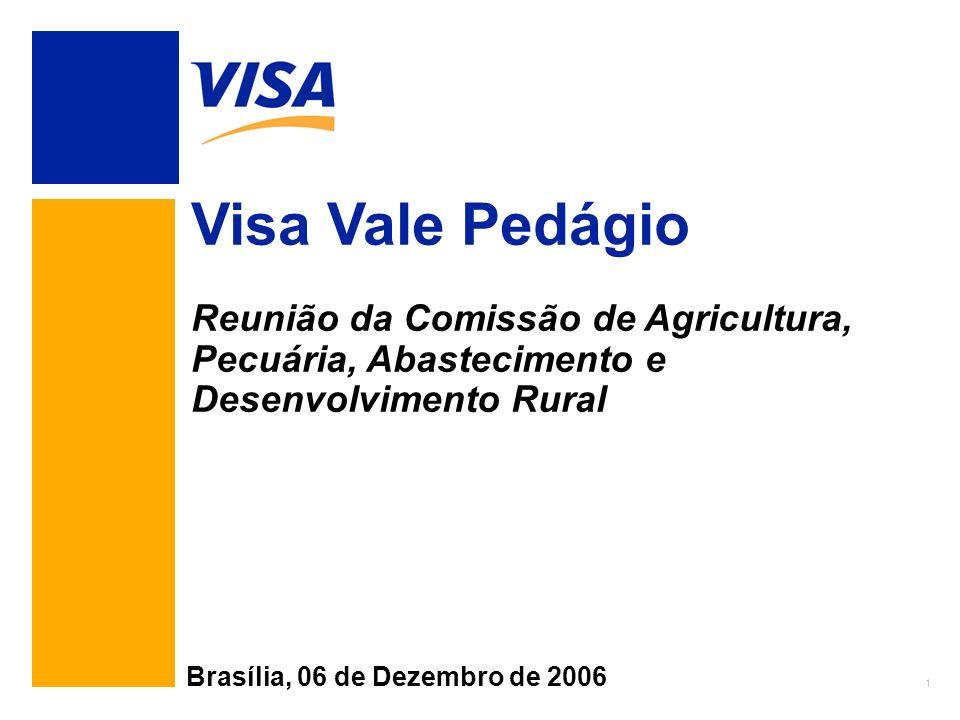 1 Visa Vale Pedágio Reunião da Comissão de Agricultura, Pecuária, Abastecimento e Desenvolvimento Rural Brasília, 06 de Dezembro de 2006