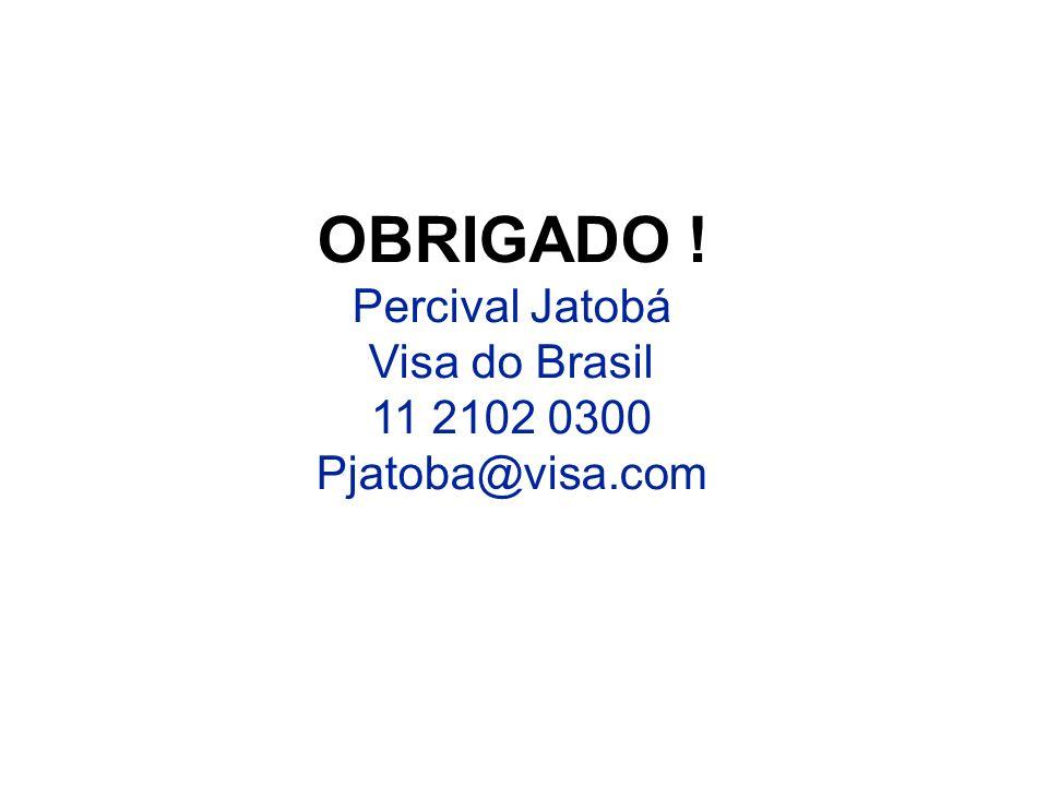 22 OBRIGADO ! Percival Jatobá Visa do Brasil 11 2102 0300 Pjatoba@visa.com