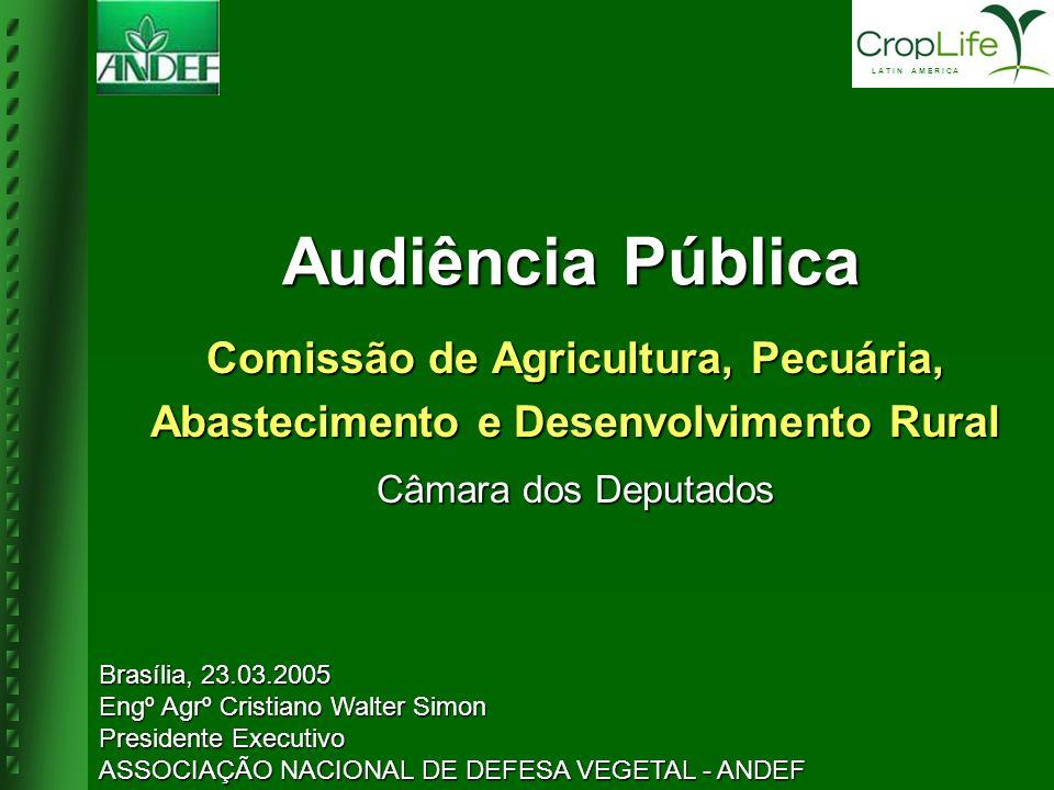 Comissão de Agricultura, Pecuária, Abastecimento e Desenvolvimento Rural Câmara dos Deputados Audiência Pública Brasília, 23.03.2005 Engº Agrº Cristia