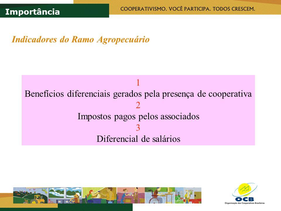 Fonte: IBGE (1995/1996), elaborado pelos autores R$ 26.783 R$ 6.433 R$ 20.350 Estabelecimentos 691.353 Receita Diferencial R$ 14,07 bi 25,20 % do PIB Agropecuário Estimativa de benefício gerado em 2004/05: R$ 38,75 bi Benefício diferencial da receita do associado Importância