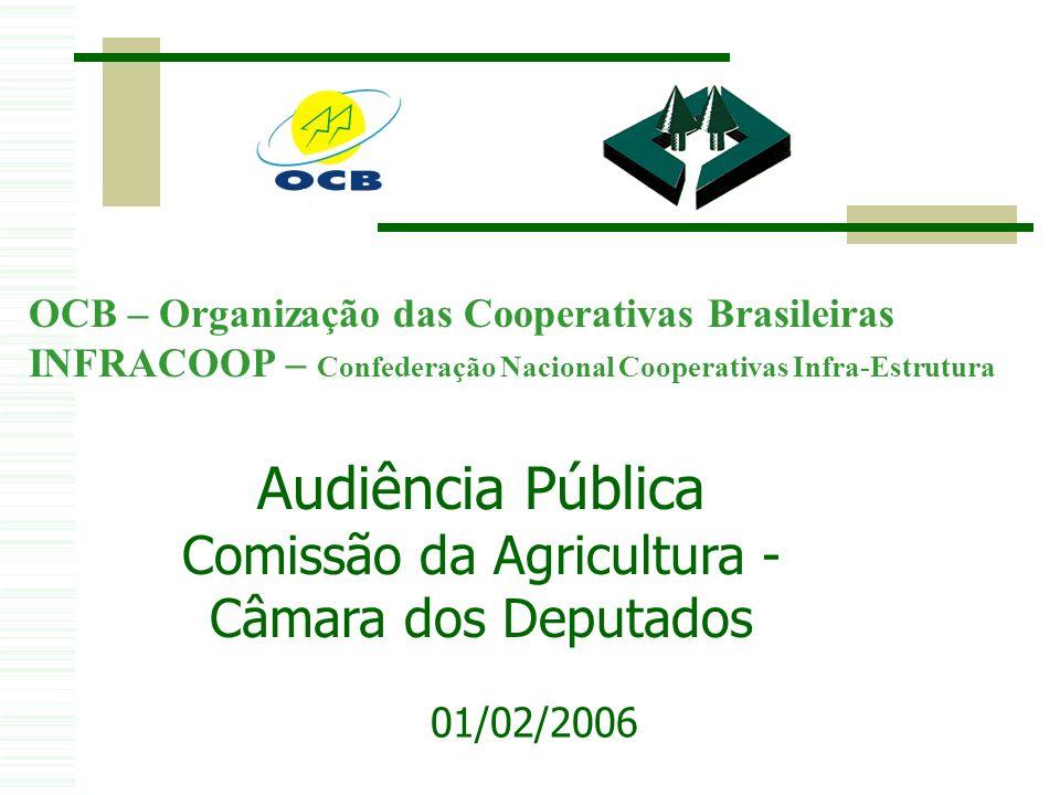 Audiência Pública Comissão da Agricultura - Câmara dos Deputados 01/02/2006 OCB – Organização das Cooperativas Brasileiras INFRACOOP – Confederação Nacional Cooperativas Infra-Estrutura