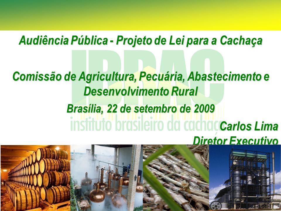 Audiência Pública - Projeto de Lei para a Cachaça Comissão de Agricultura, Pecuária, Abastecimento e Desenvolvimento Rural Brasília, 22 de setembro de