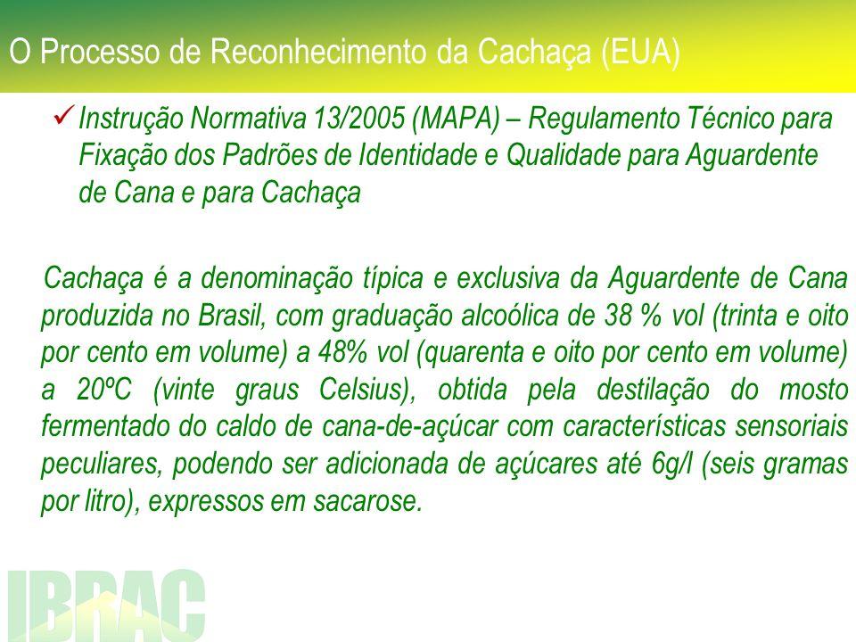 Instrução Normativa 13/2005 (MAPA) – Regulamento Técnico para Fixação dos Padrões de Identidade e Qualidade para Aguardente de Cana e para Cachaça Cac
