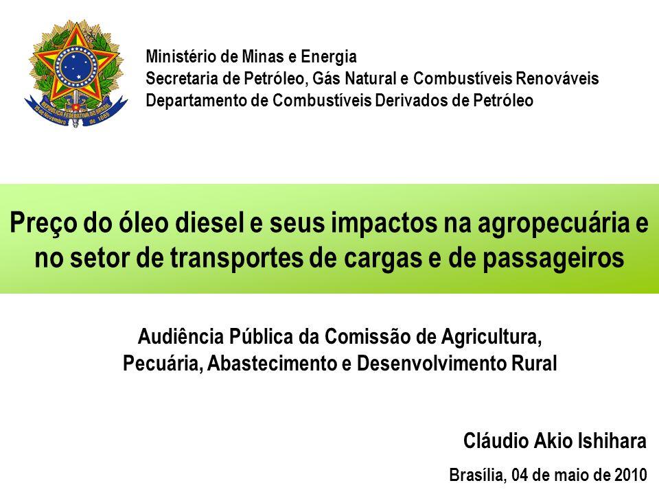 Ministério de Minas e Energia Secretaria de Petróleo, Gás Natural e Combustíveis Renováveis Departamento de Combustíveis Derivados de Petróleo Preço d