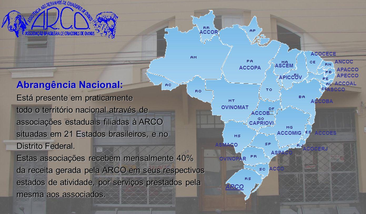 Associação Brasileira de Criadores de Ovinos Quando um grupo de criadores proclamou a idéia da fundação da ARCO, em 1942, certamente não imaginava que a semente então lançada iria se transformar na árvore produtiva de hoje, proporcionando a colheita de tão abundantes frutos.