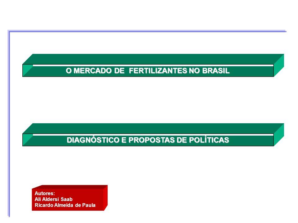 DIAGNÓSTICO E PROPOSTAS DE POLÍTICAS O MERCADO DE FERTILIZANTES NO BRASIL Autores: Ali Aldersi Saab Ricardo Almeida de Paula