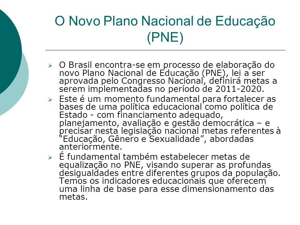 O Novo Plano Nacional de Educação (PNE) O Brasil encontra-se em processo de elaboração do novo Plano Nacional de Educação (PNE), lei a ser aprovada pe