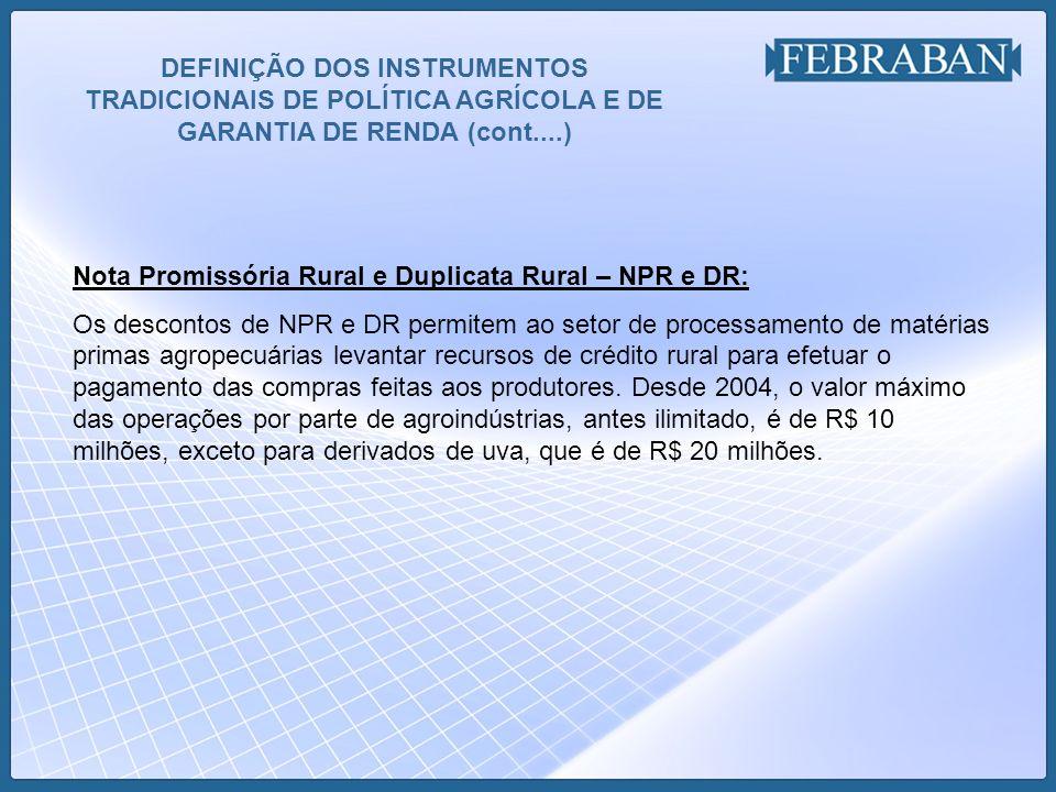 RECURSOS PARA A SAFRA 2008-2009 Data base da pesquisa: 31.08.08 – reunião com o MINIFAZ e MAPA: 19.09.08