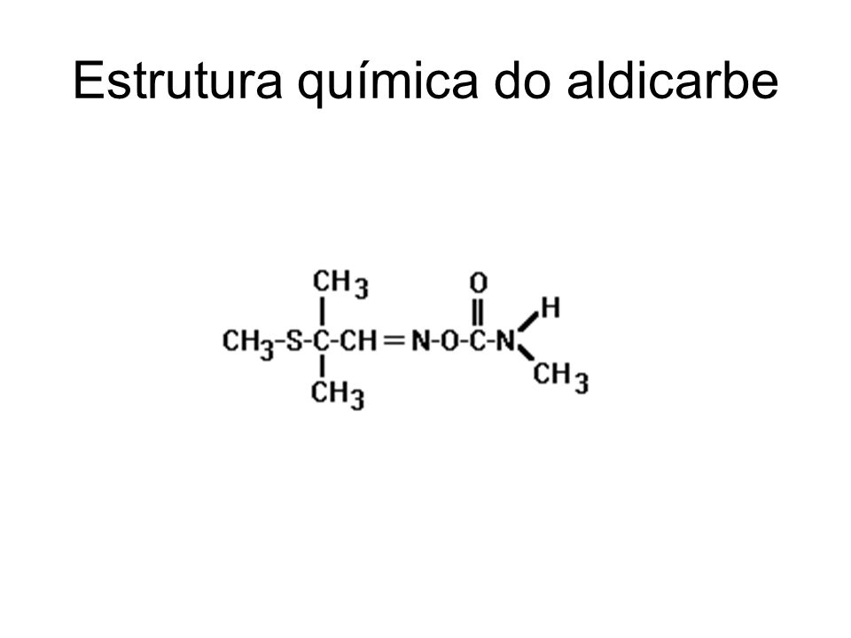 Estrutura química do aldicarbe