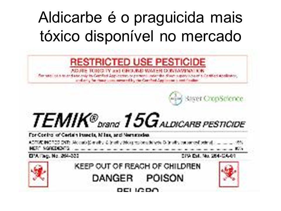 Aldicarbe é o praguicida mais tóxico disponível no mercado