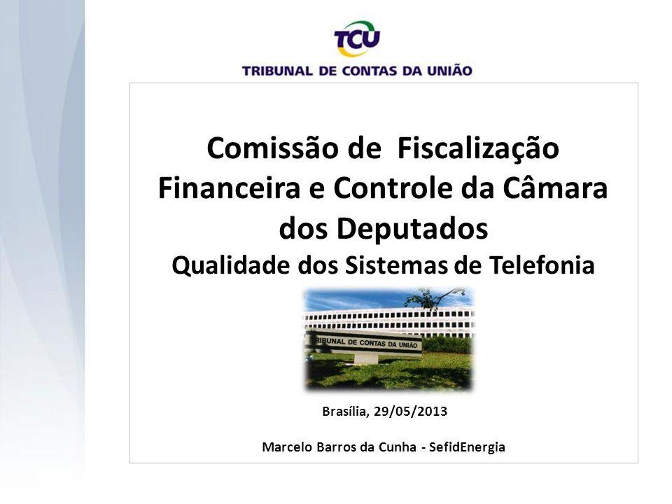 Comissão de Fiscalização Financeira e Controle da Câmara dos Deputados Qualidade dos Sistemas de Telefonia Brasília, 29/05/2013 Marcelo Barros da Cunh