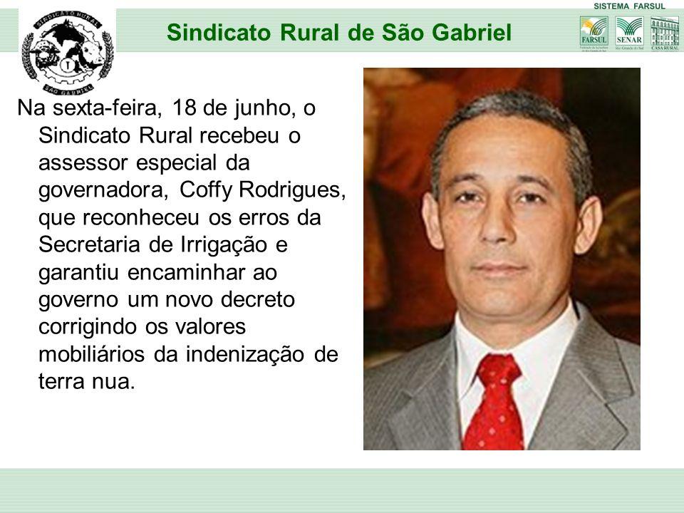 Na sexta-feira, 18 de junho, o Sindicato Rural recebeu o assessor especial da governadora, Coffy Rodrigues, que reconheceu os erros da Secretaria de I