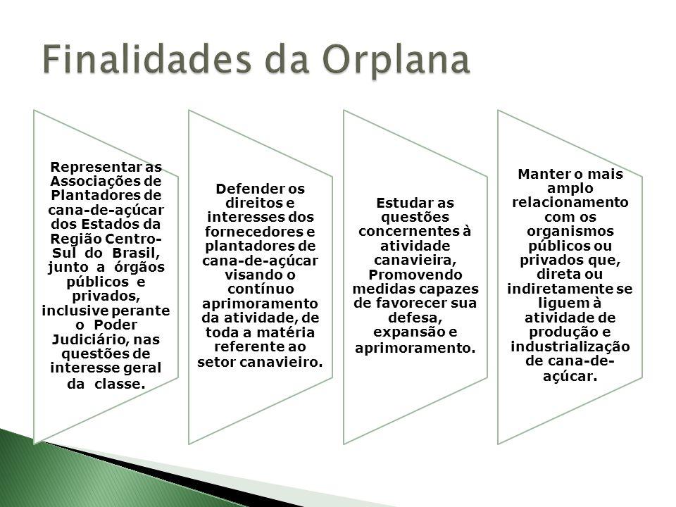 Representar as Associações de Plantadores de cana-de-açúcar dos Estados da Região Centro- Sul do Brasil, junto a órgãos públicos e privados, inclusive perante o Poder Judiciário, nas questões de interesse geral da classe.