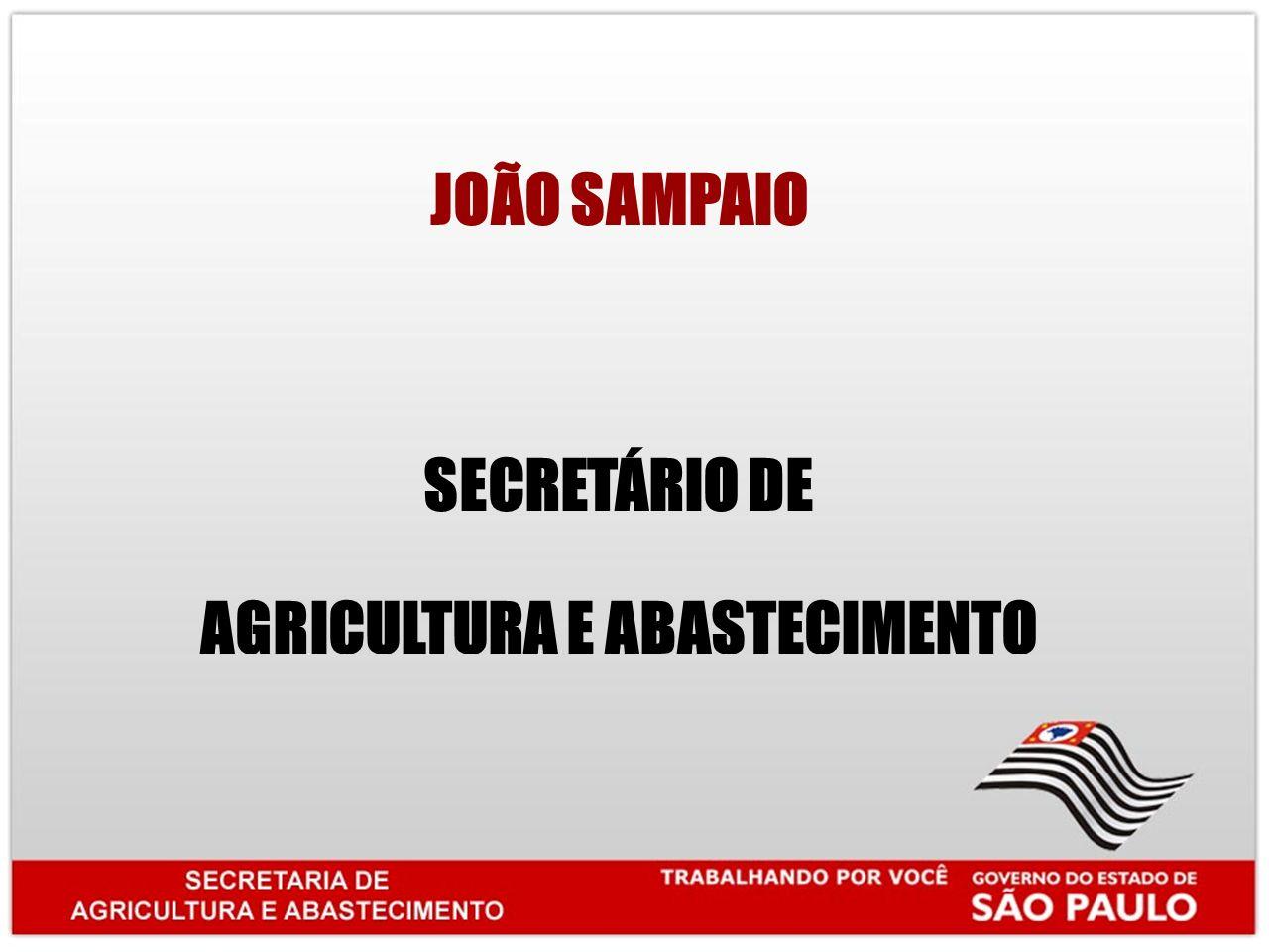 JOÃO SAMPAIO SECRETÁRIO DE AGRICULTURA E ABASTECIMENTO