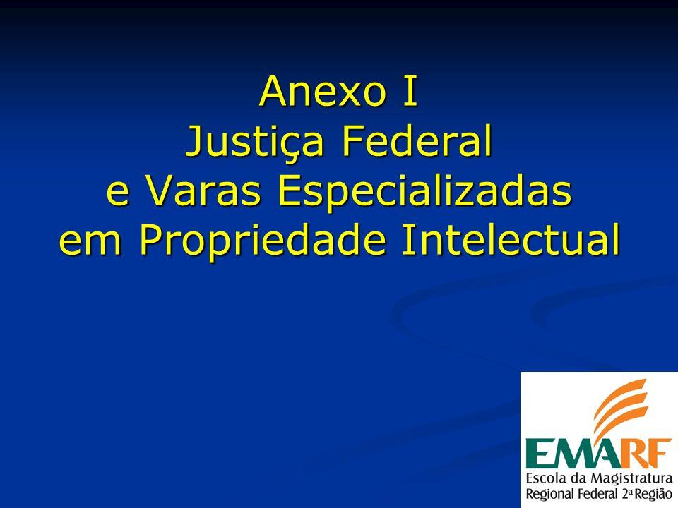 Anexo I Justiça Federal e Varas Especializadas em Propriedade Intelectual