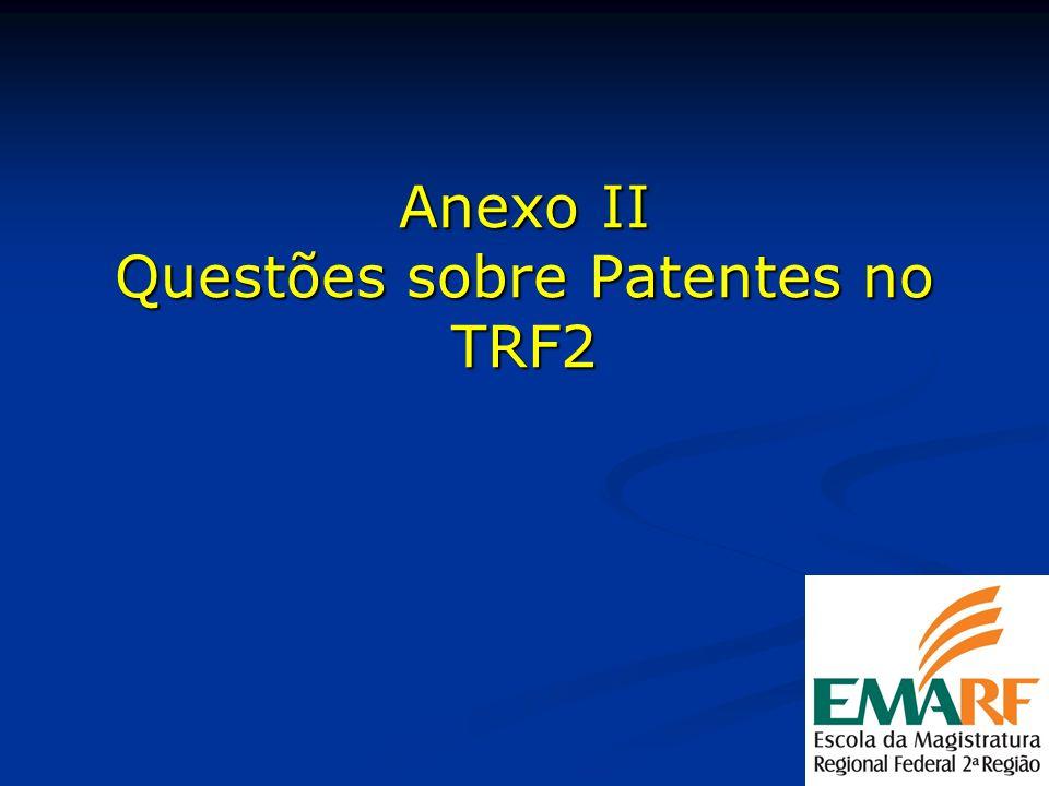 Anexo II Questões sobre Patentes no TRF2