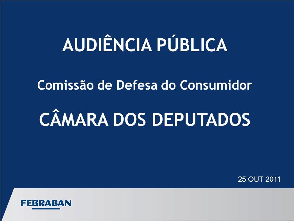 AUDIÊNCIA PÚBLICA Comissão de Defesa do Consumidor CÂMARA DOS DEPUTADOS 25 OUT 2011