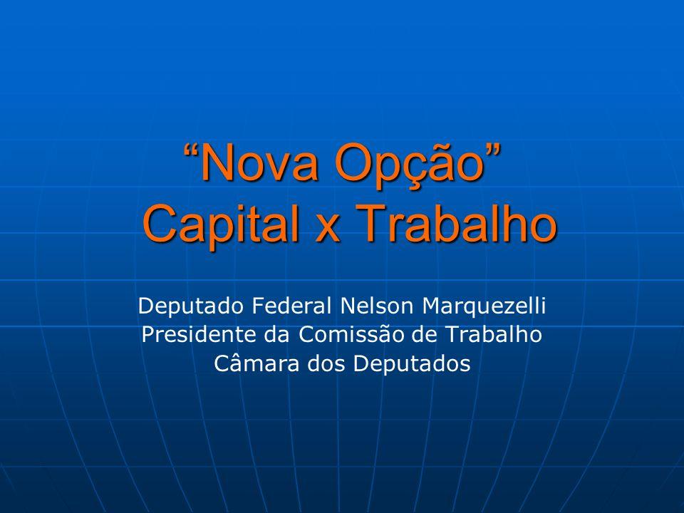 Nova Opção Capital x Trabalho Deputado Federal Nelson Marquezelli Presidente da Comissão de Trabalho Câmara dos Deputados