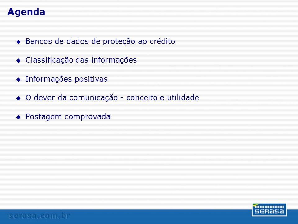 Bancos de dados de proteção ao crédito u Visam a apoiar as decisões de concessão de crédito e de realização de negócios; u Princípios da legalidade (art.