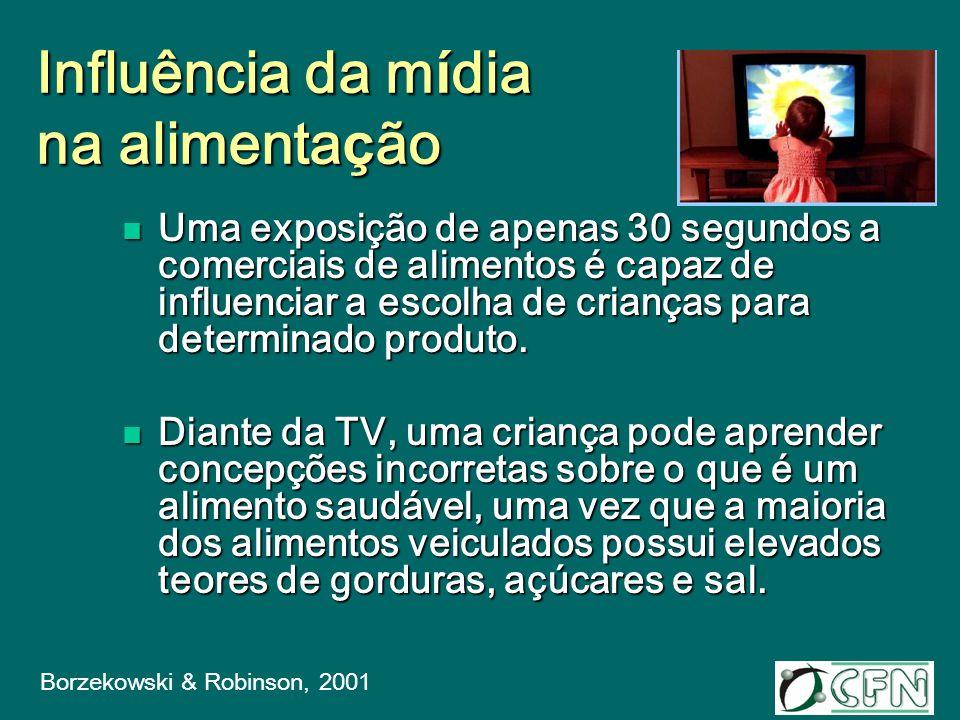 Obesidade x H á bito de assistir TV O hábito de assistir à TV está diretamente relacionado a pedidos, compras e consumo de alimentos anunciados na TV.