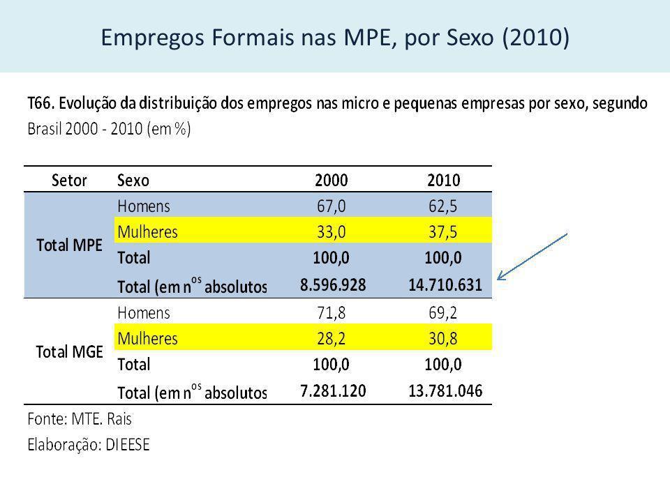 Empregos formais, por porte de estabelecimento (2010)