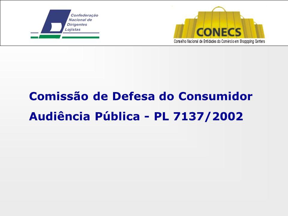 Comissão de Defesa do Consumidor Audiência Pública - PL 7137/2002