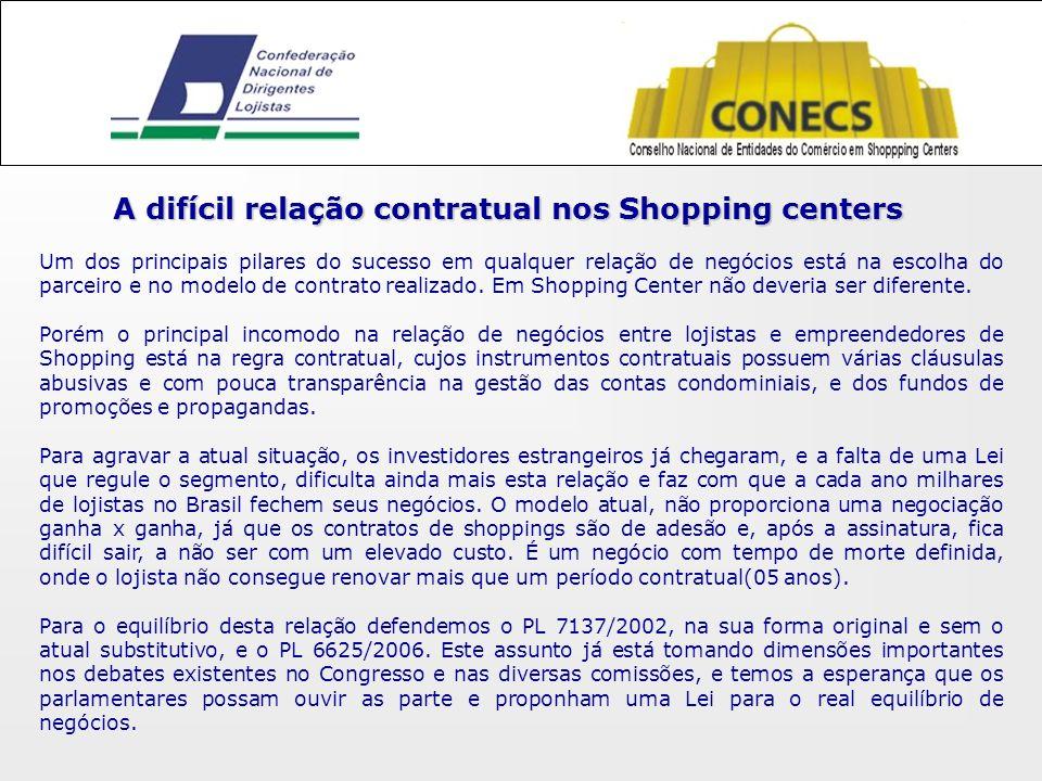 A difícil relação contratual nos Shopping centers Um dos principais pilares do sucesso em qualquer relação de negócios está na escolha do parceiro e no modelo de contrato realizado.