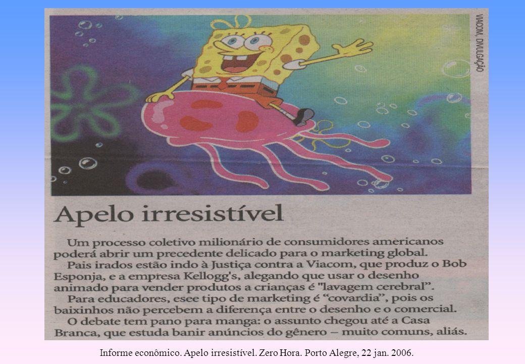 Informe econômico. Apelo irresistível. Zero Hora. Porto Alegre, 22 jan. 2006.