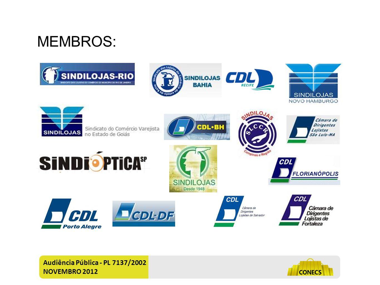 Audiência Pública - PL 7137/2002 NOVEMBRO 2012 MEMBROS: