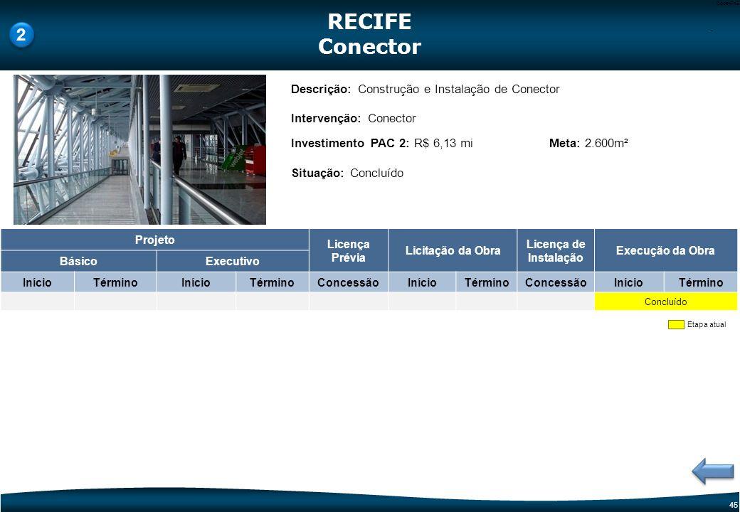 44 Code-P44 Etapa atual Descrição: Construção da Torre de Controle e Prédio do Destacamento do Espaço Aéreo (TWR/DTCEA) Intervenção: Torre de Controle