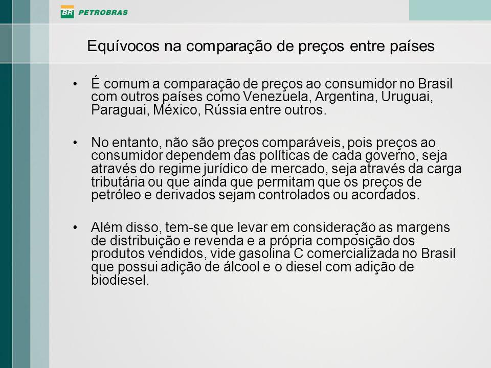 Equívocos na comparação de preços entre países É comum a comparação de preços ao consumidor no Brasil com outros países como Venezuela, Argentina, Uru