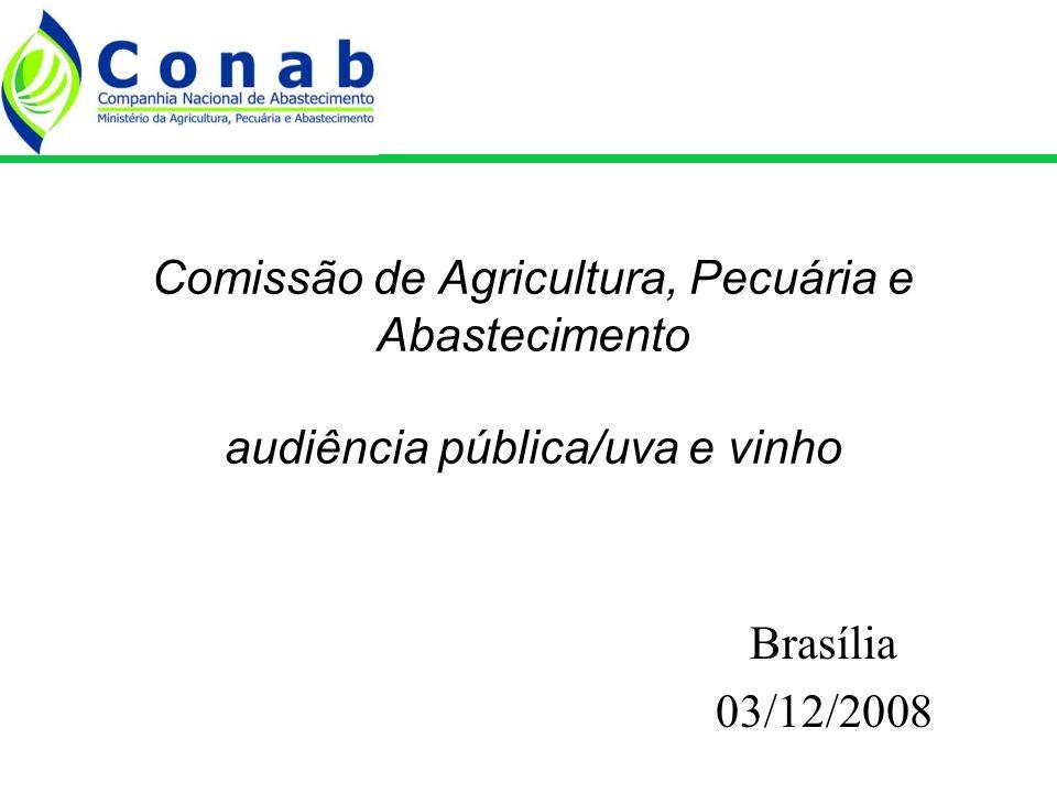 Comissão de Agricultura, Pecuária e Abastecimento audiência pública/uva e vinho Brasília 03/12/2008