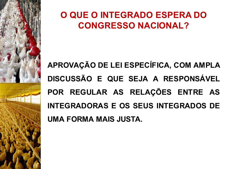 O QUE O INTEGRADO ESPERA DO CONGRESSO NACIONAL? APROVAÇÃO DE LEI ESPECÍFICA, COM AMPLA DISCUSSÃO E QUE SEJA A RESPONSÁVEL POR REGULAR AS RELAÇÕES ENTR