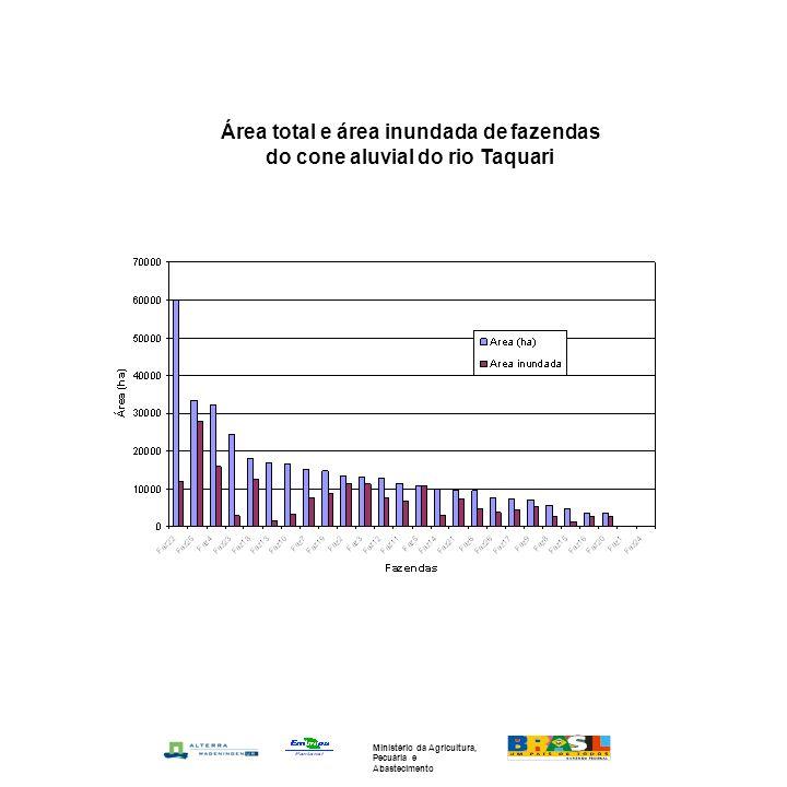 Área total e área inundada de fazendas do cone aluvial do rio Taquari Ministério da Agricultura, Pecuária e Abastecimento