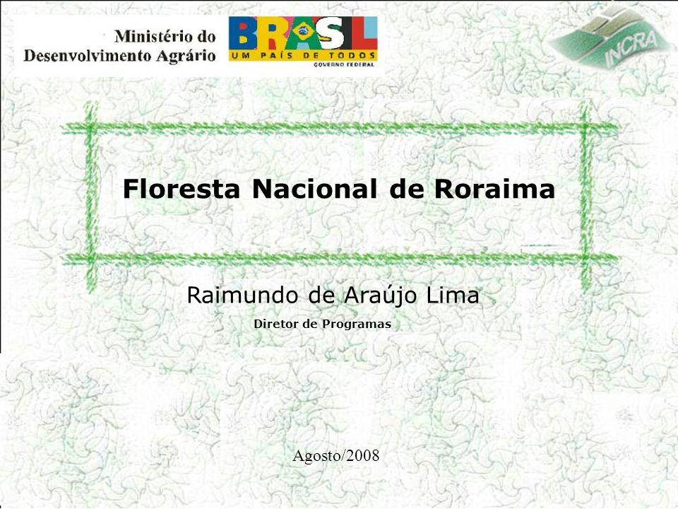 Floresta Nacional de Roraima Diretor de Programas Raimundo de Araújo Lima Agosto/2008
