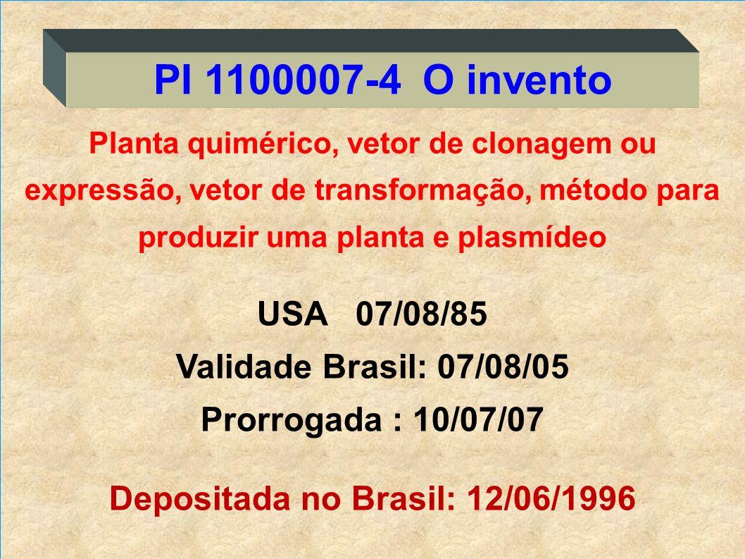 Planta quimérico, vetor de clonagem ou expressão, vetor de transformação, método para produzir uma planta e plasmídeo USA 07/08/85 Validade Brasil: 07