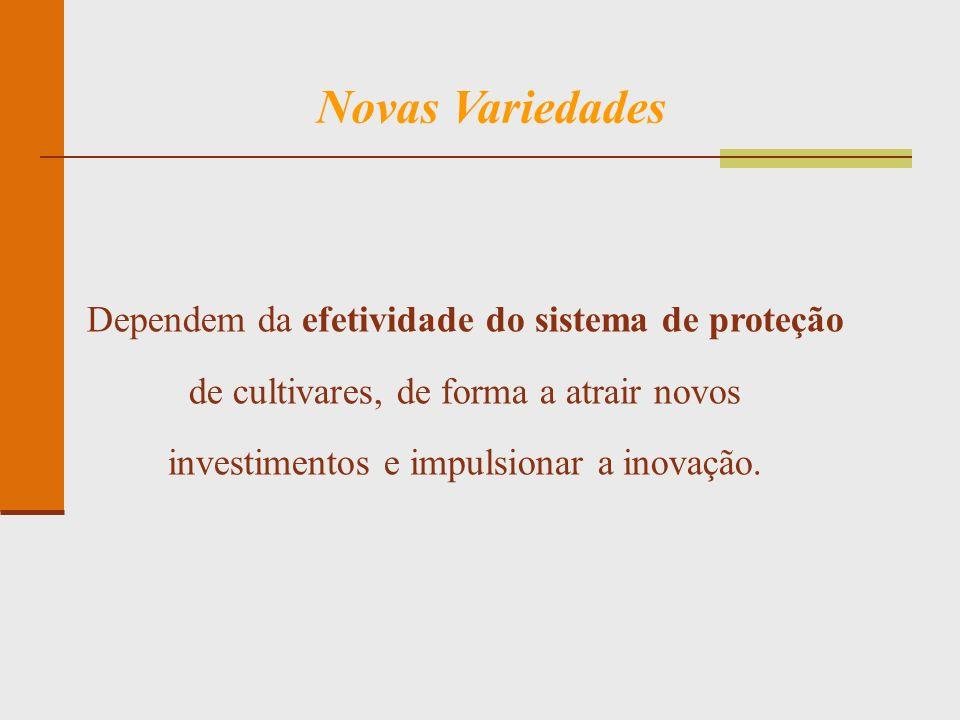 Novas Variedades Dependem da efetividade do sistema de proteção de cultivares, de forma a atrair novos investimentos e impulsionar a inovação.